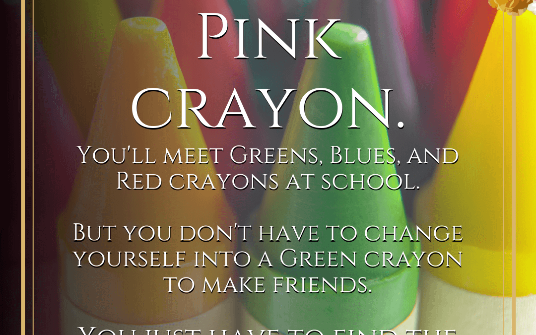 Beth Rowles Pink Crayons Story to Help Your Child with Friendship Conscious Parenting Coach Marriage Help