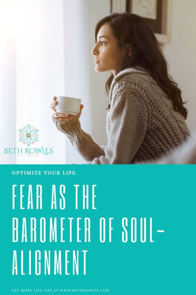 Fear as the barometer of soul-alignment Beth Rowles